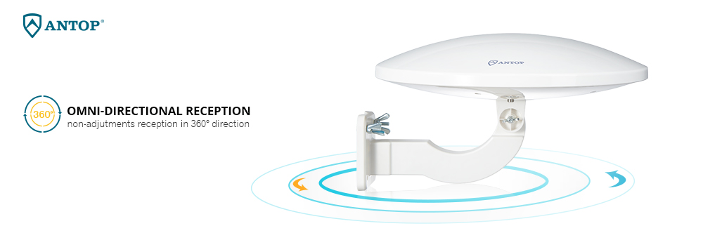 360 degree omnidirectional reception. digital HD TV antenna