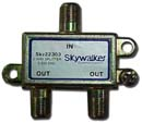 TV antenna 2 way signal splitter