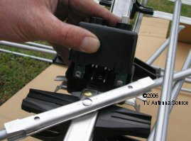 attach cartridge housing to the TV antenna