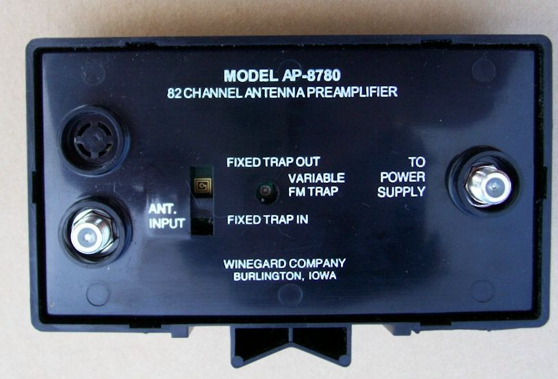 Winegard tv antenna preamplifier