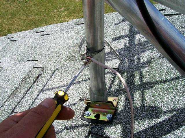 Tv antenna installation guidelines ground wire ground strap greentooth